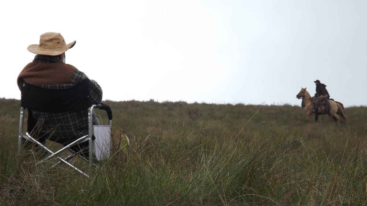 9. O diretor Tabajara Ruas no set de filmagens de ACGS - by Tomás Ruas
